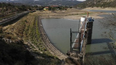 presa El Girón mancha tierra seca