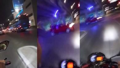 Mujer graba el momento de su muerte al ir en una motocicleta