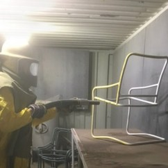Steel Chair Repair Wedding Covers Poole Outdoor Furniture Criterion Restoration And Sales Sandblasting Strap Replacement