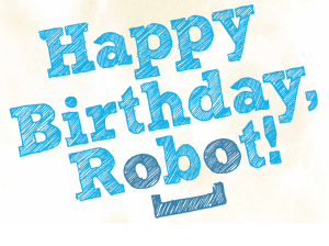 The Happy Birthday, Robot! logo