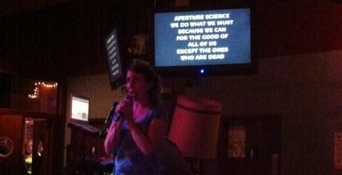 """Still Alive"" karaoke"