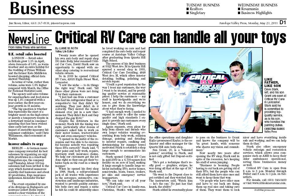 Critical Car Care AV Press