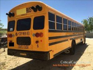 Critical Car Care auto body repair: School Bus