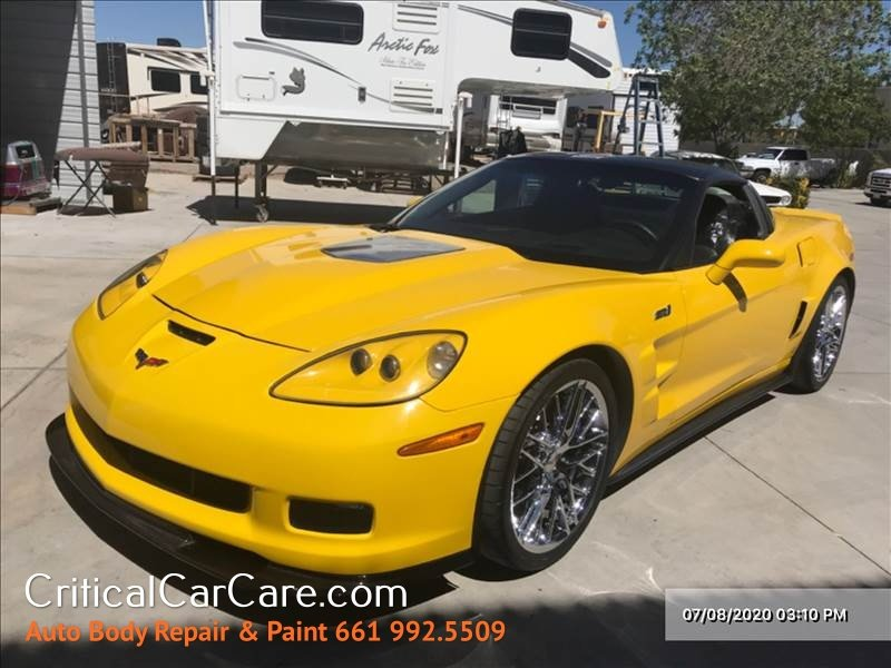 2009 Chevy Corvette ZR1 w/3ZR Before and After Crash