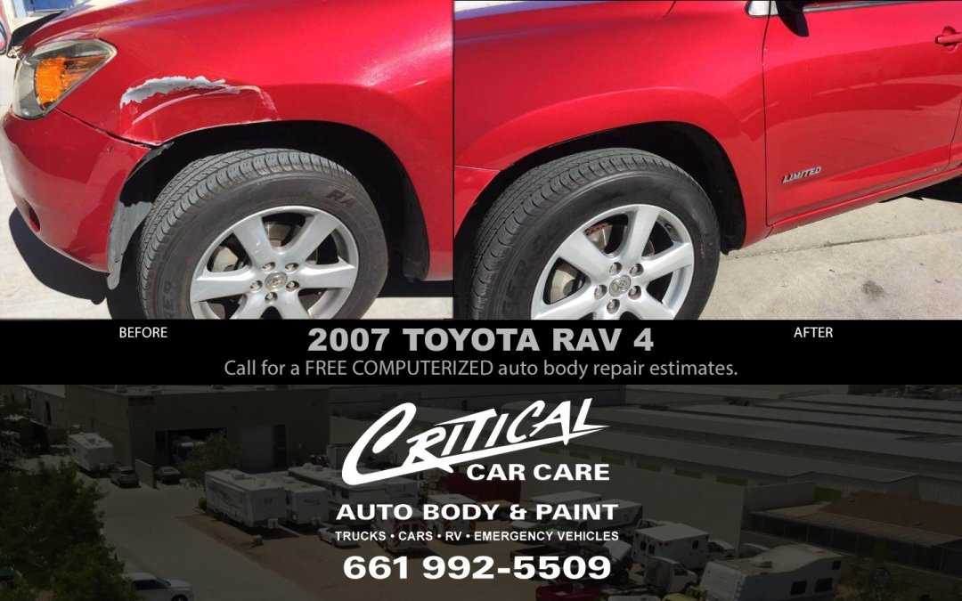 Auto Body Repair 2007 TOYOTA RAV 4 before & after!