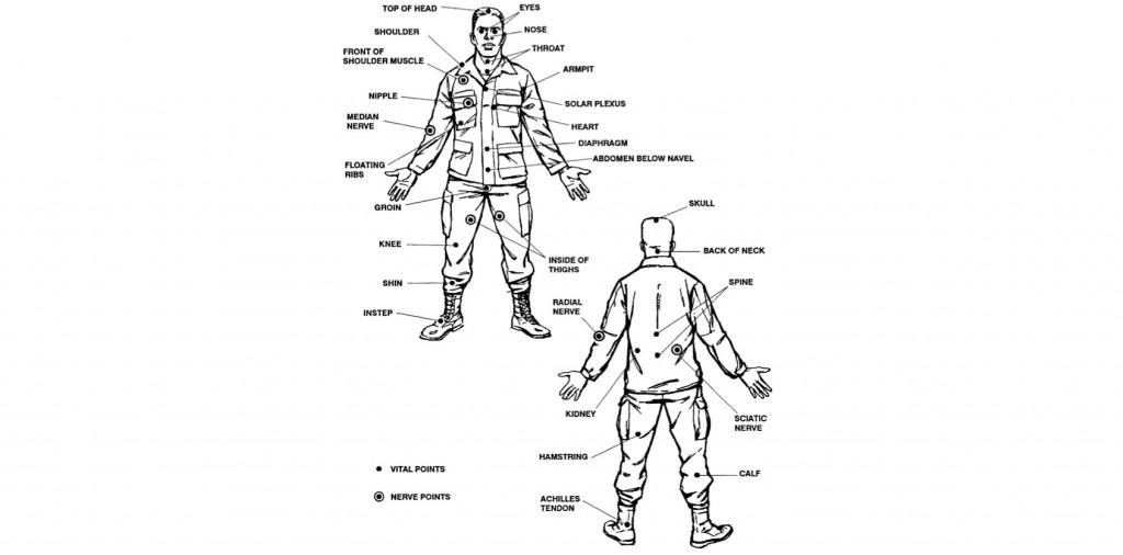 Basic Hand to Hand Self Defense : Vital Target Areas on