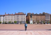 Julia at Place Bellecour