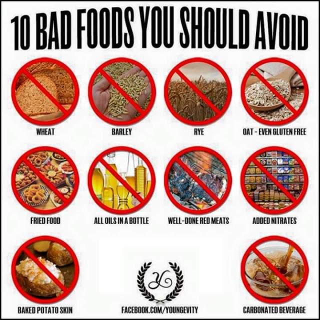 Ten Bad Foods