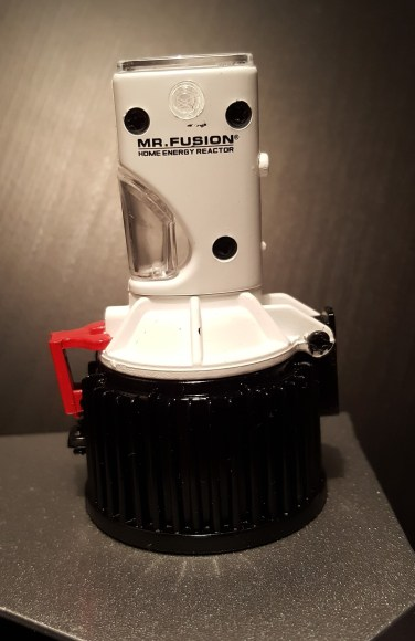 The Mr Fusion beginnings! The red part is a tiny latch that's spring-loaded.