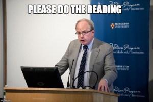 Adrian Vermeule Says Please Do the Reading