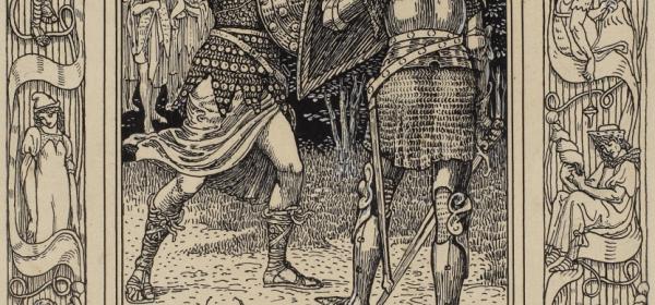Artegall Battles Radigund, from The Faerie Queene