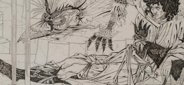 King Arthur and the Questing Beast, by Aubrey Beardsley