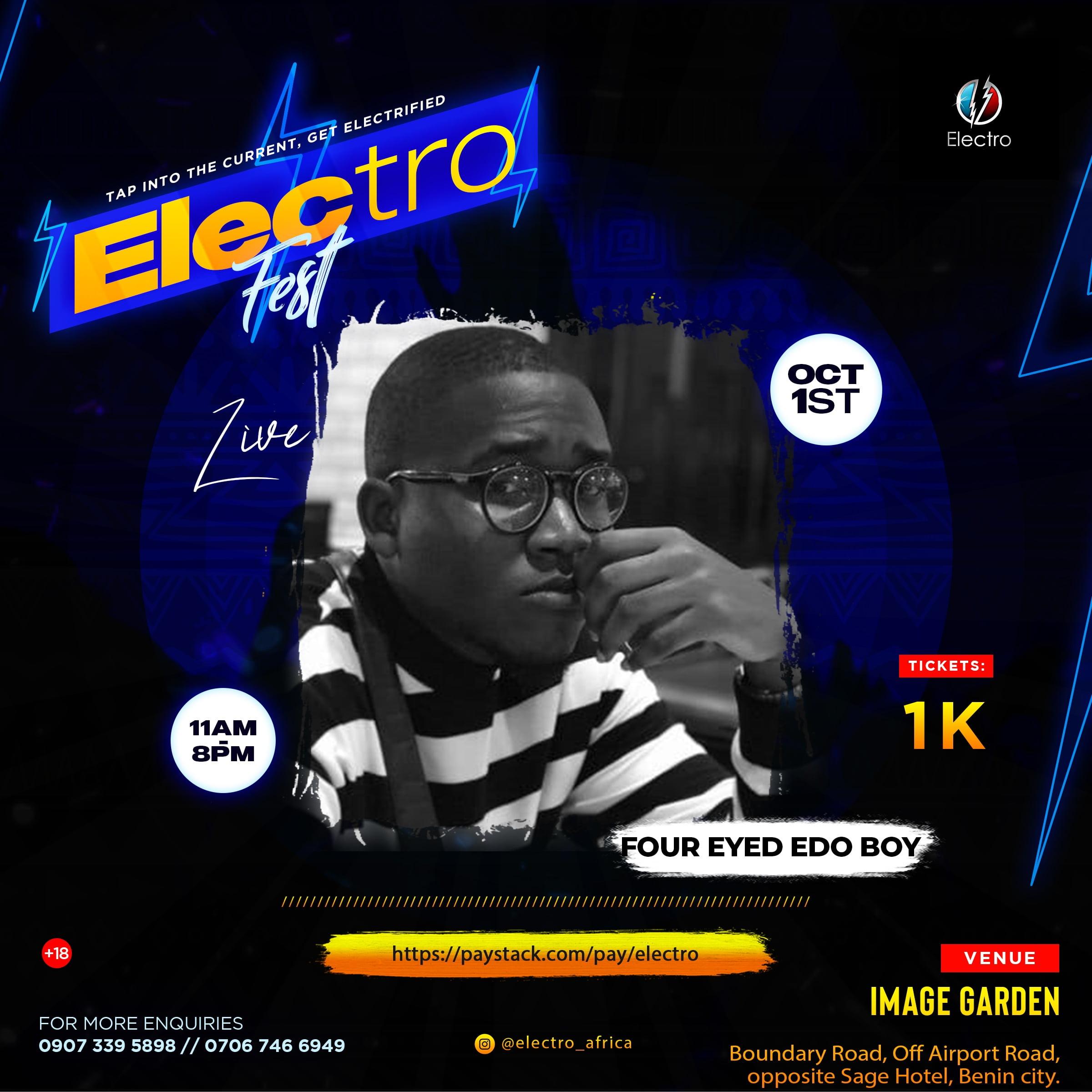 Electro Fest | Critic Circle | Four Eyed Edo Boy