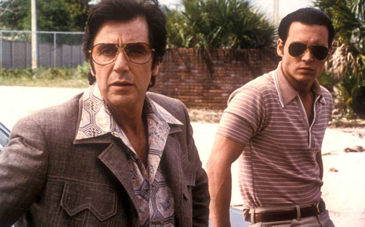 Donnie Brasco (1996) Directed by Mike Newell Shown: Al Pacino, Johnny Depp