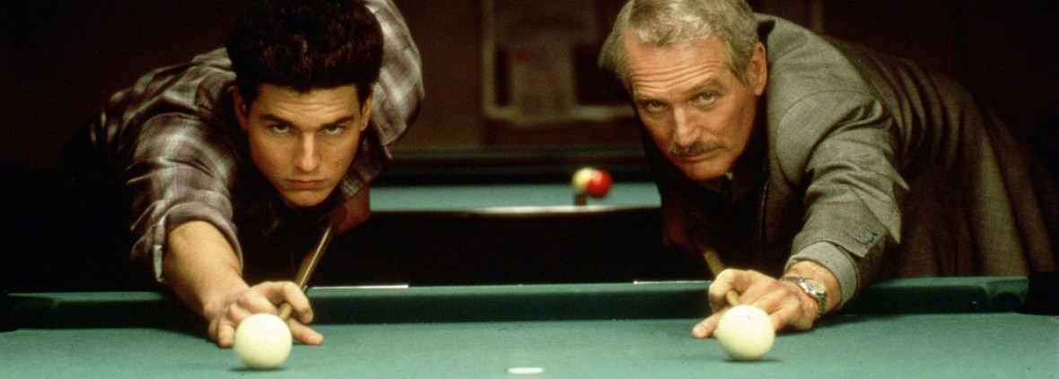 """Paul Newman, right, and Tom Cruise, in a scene from the 1986 film """"The Color of Money,"""" for which Newman won an Oscar for best actor."""