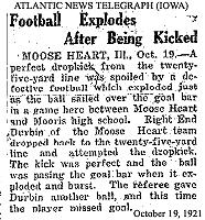 football explodes