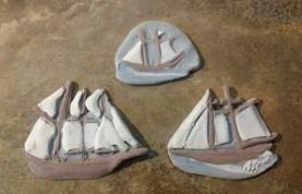 In Process Tall Ship Pins