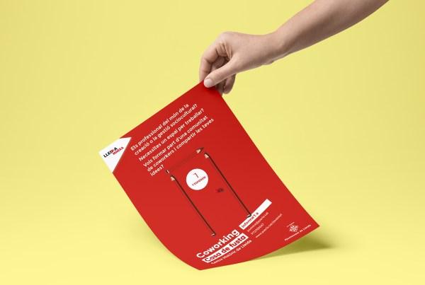 Disseny gràfic cartell per al ajuntament de Lleida, diseño gráfico cartel para el ayuntamiento de lleida