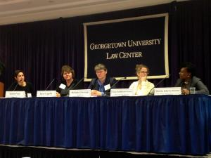 Crittenton's CEO, Joyce Capelle, providing subject matter expertise on juvenile justice youth at Georgetown University Law Center. Photo Courtesy: The National Crittenton Foundation