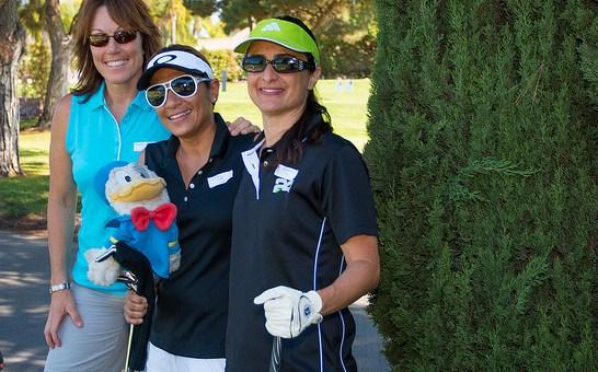 Golfers at Crittenton's Charity Golf Tournament