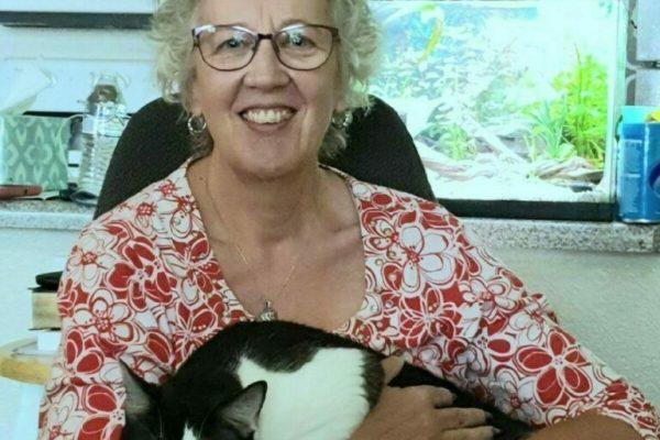 Theresa Nichols profile photo and black and white cat