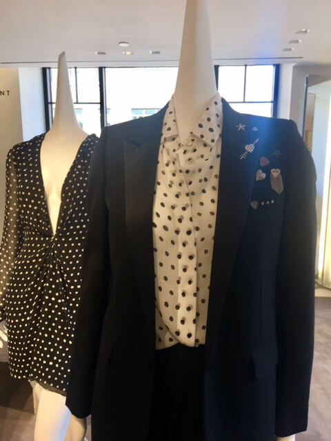 Do you like polka dots?-Saint Laurent-Barneys-Pre Fall 2017-Marcia Crivorot - personal stylist in New York - personal stylist in Westchester, NY - personal shopper in New York - personal shopper in Westchester, NY