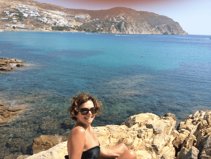 Greece Trip - Agrari Beach - Mykonos - Marcia Crivorot