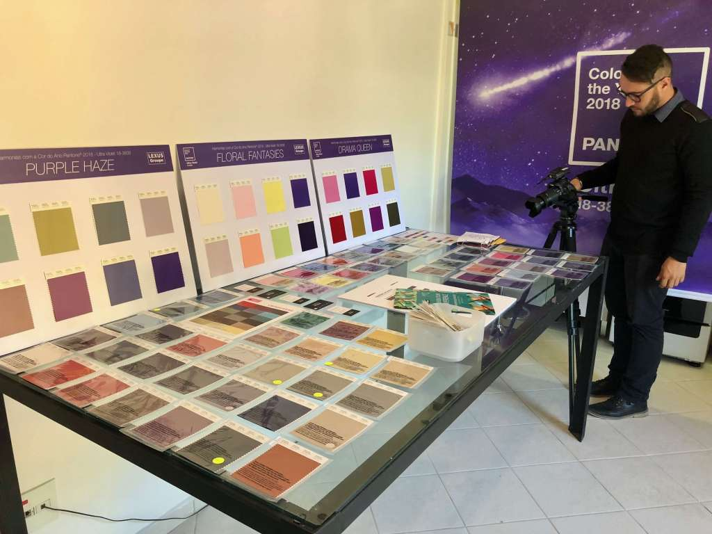Fashion Color Experience: a learning day about color trends,color trends, behavioral trends, color of the year , ultraviolet, pantone, NY Fashion Tour,Fall/Winter 2018 trends, spring 2019 trends, Crivorot Scigliano,Silvia Scigliano