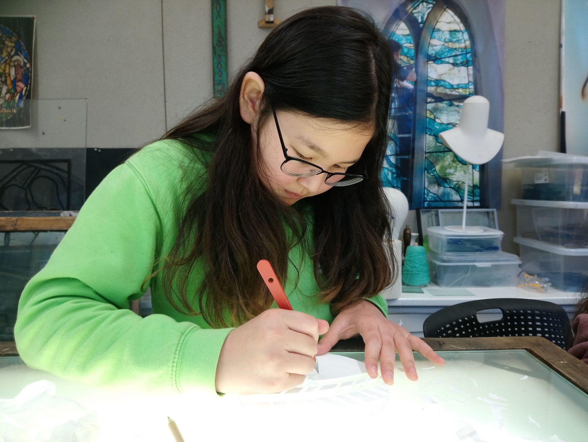 Glass masterclass at Swansea College of Art, UWTSD