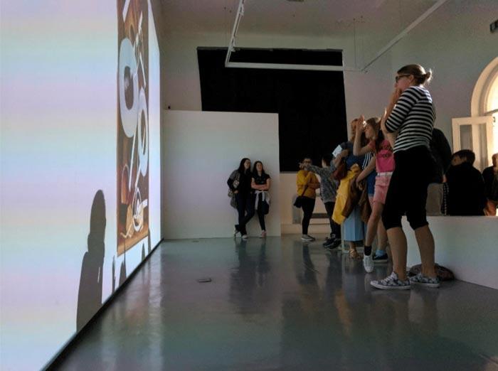 Exhibition of participant work at Oriel Myrddin.