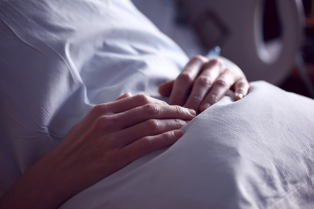 Patient in hospital bed, hospital, patient, injury