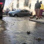 Accidente de tránsito deja sin agua a más de dos mil personas en Quetzaltenango. (Foto: Carlos Ventura)