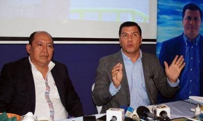 Julio Xicay y Hugo Sarceño brindaron este viernes una conferencia de prensa en Quetzaltenango. (Foto: Carlos Ventura)