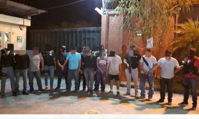 La PNC realizó el operativo en el municipio de San Juan Sacatepéquez, donde capturó a ocho personas. (Foto: PNC)
