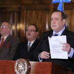 El Presidente Alejandro Giammattei anunció la creación de la Comisión Presidencial contra el Trabajo Infantil. (Foto: Presidencia)