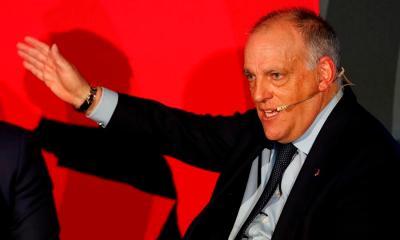 Javier Tebas, presidente de LaLiga, dijo que esperan que la actividad se reinicie el 11 de junio y el próximo campeonato el 12 de septiembre. (Foto: EFE)