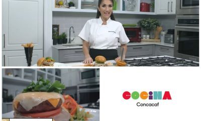 Mirciny Moliviatis preparó las cuatro recetas de la Concacaf en el Día Internacional de la Hamburguesa. (Foto: Captura de pantalla)