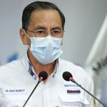 El Ministro Hugo Monroy brindó una actualización sobre los casos del COVID-19 en Guatemala. (Foto: SCSP)
