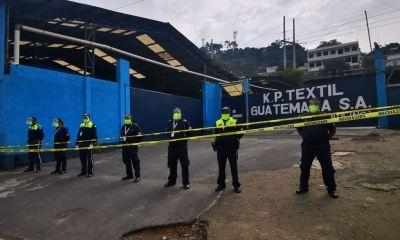 Las autoridades obligaron el cierre inmedita de la maquila FP Textil ubicada en Prados de Villa Hermosa, San Miguel Petapa. (Foto: Municipalidad de San Miguel Petapa)