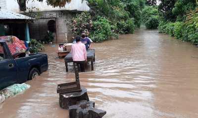 Las constantes lluvias provocadas por Cristóbal inundaron varios sectores y los vecinos debieron ser evacuados en Suchitepéquez. (Foto: Cristian Soto)