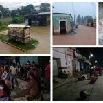Las lluvias inundaron calles, casas y el mercado temporal de San Cristóbal Verapaz, razón por la que los vendedores decidieron volver al centro del municipio. (Foto: Eduardo Sam)