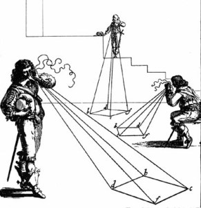Ahí están estos señores renacentista proyectando pirámides visuales por doquier.