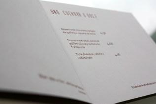 carta restaurante gastrobar imagen corporativa carton sello seco