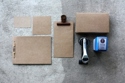 identidad imagen corporativa gastrobar feten carton estampacion en seco