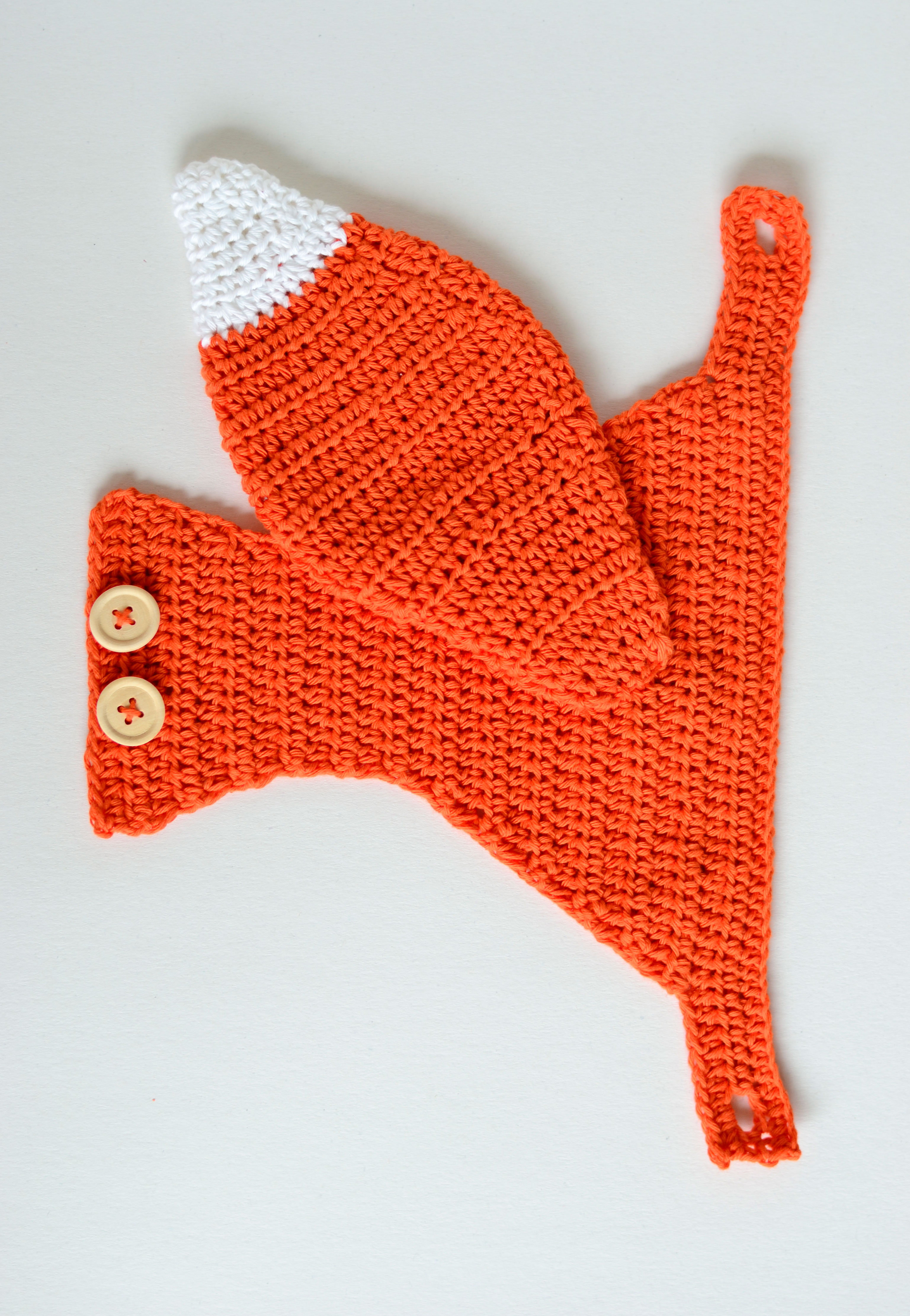 diaper cover and booties Crochet Fox Baby Outfit with hat