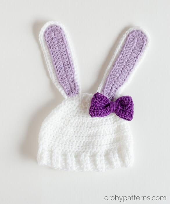 Free Crochet Pattern - Little Bunny Hat by Croby Patterns