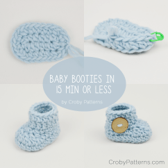 Crochet Baby Booties Diagram Wiring For Toyota 4runner Stereo In 15 Minutes Or Less  Croby Patterns