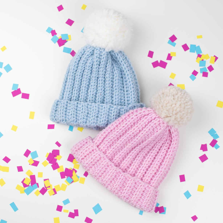 crochet baby beanie hat patterns free