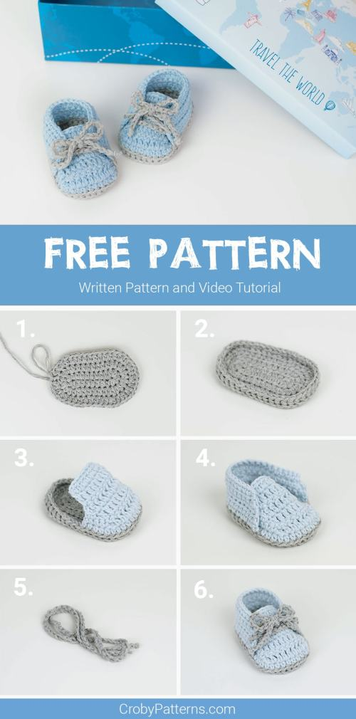 small resolution of crochet baby sneakers by croby patterns