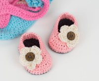 FREE PATTERN: Crochet Baby Booties With Flower | Croby ...